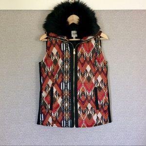S Rafaella Weekend Fur Trimmed Vest